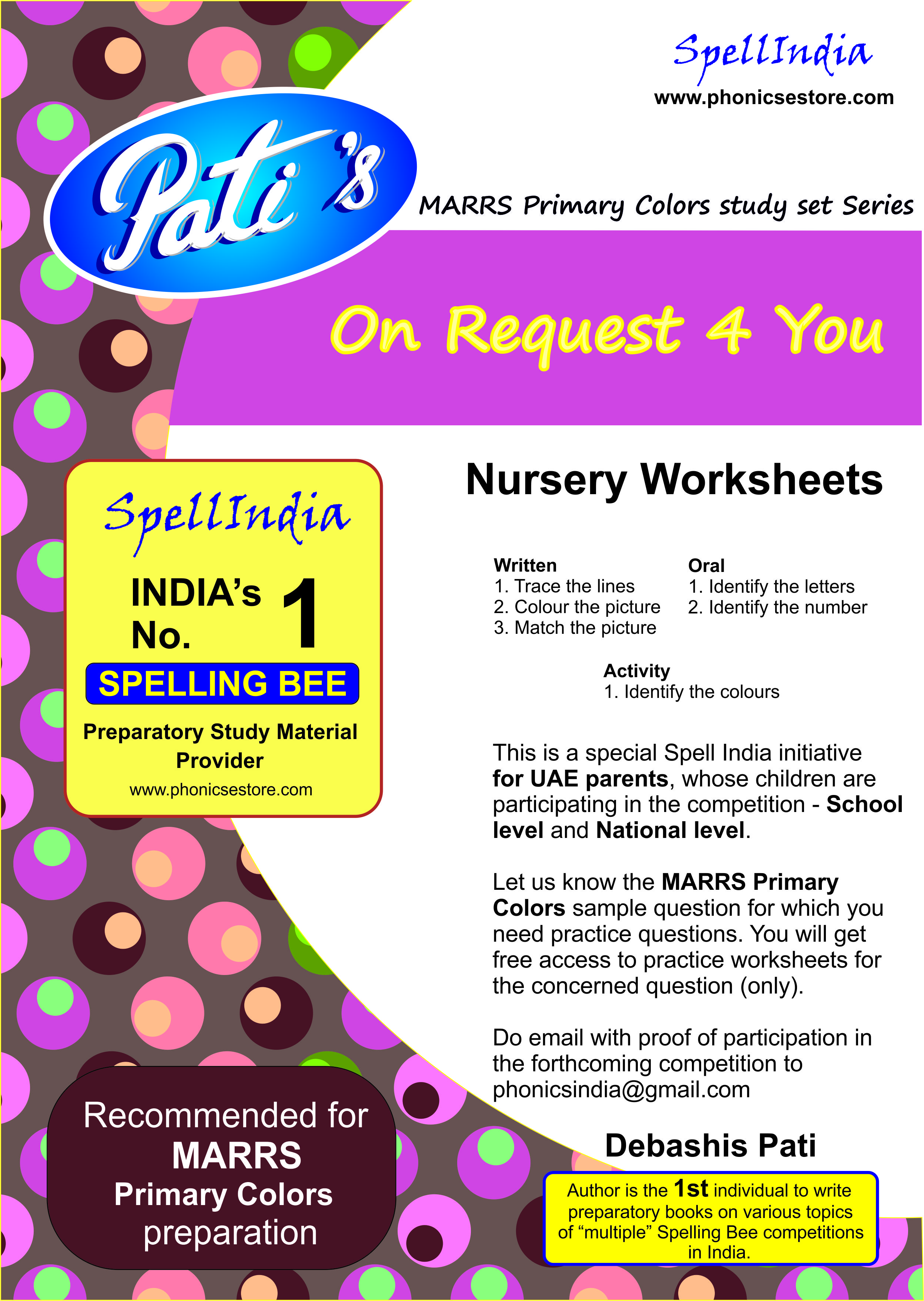 Preparatory Books from Spell India for MARRS Pre School Bee